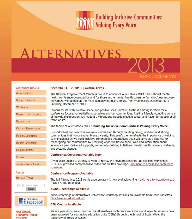 Alternatives 2013