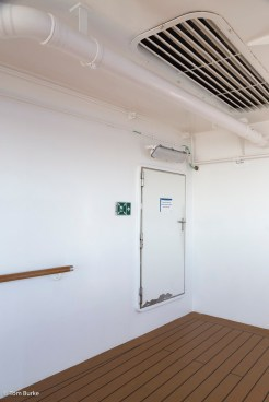 Door between internal passage and the clamshell area (from outside)