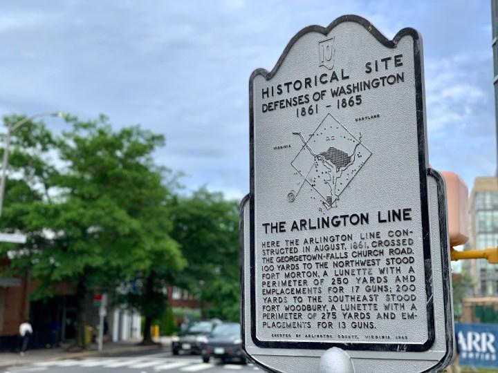 """Arlington Line"" historical marker"