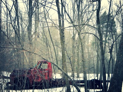 Abandoned-Truck-In-The-Woods
