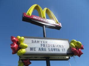 Sawyer Fredericks McDonald's
