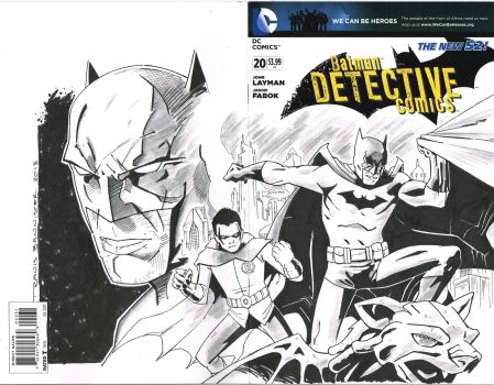 batman and robin custom sketch cover