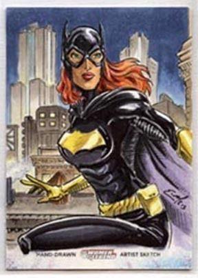 Batgirl Sketch Card