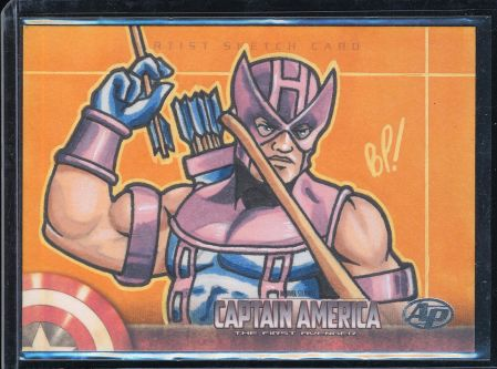 Hand Drawn Art Card of Hawkeye