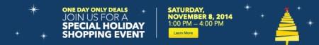 Best Buy Holiday Shoppign Event November 8th, 2014