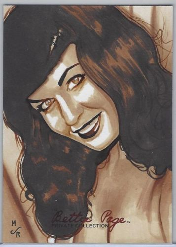 Betttie Page Sketch Card by Jason Reed