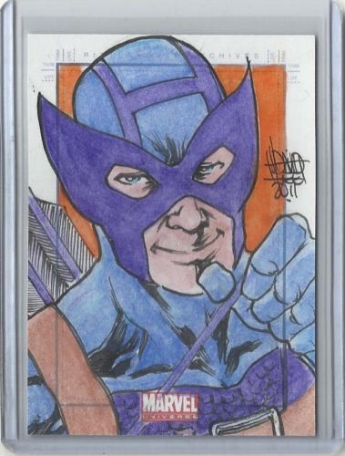 Sketch Card of Hawkeye