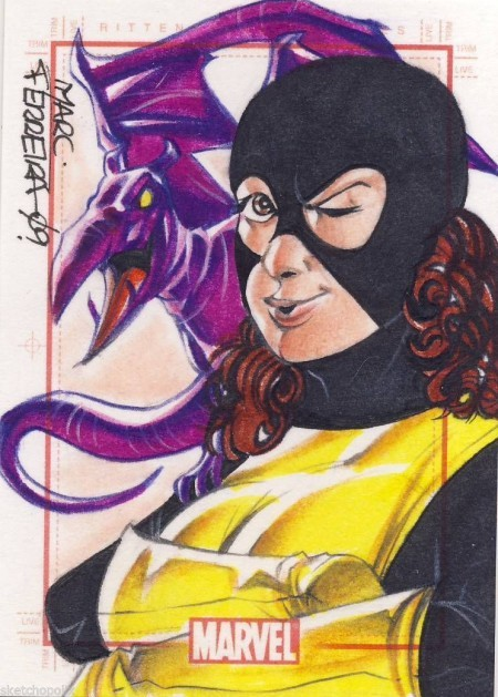 Sketch Card by Marc Ferreira of Shadowcat