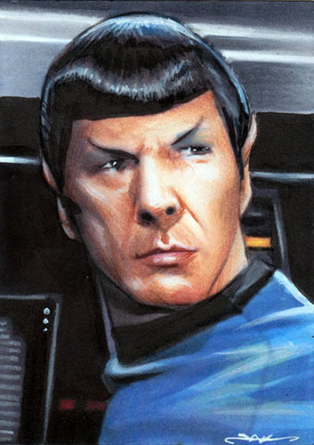 #aceo #sketch #art #sketchcard #drawing #artist #artoftheday Sketch Card #spock #startrek