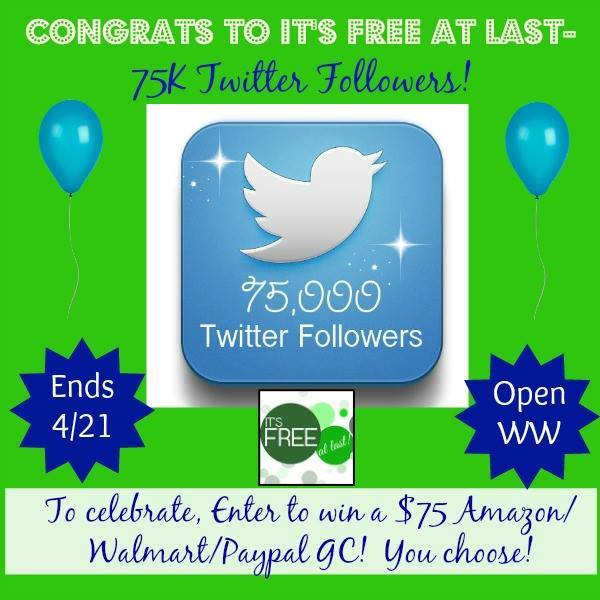 $75 Walmart, PayPal, or Amazon Gift Card Giveaway