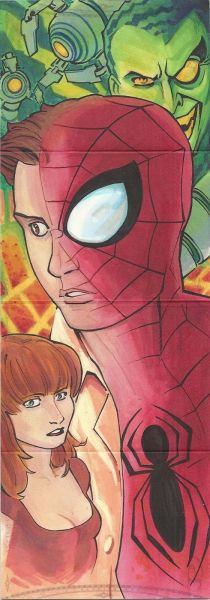 2014 Marvel Premier 7 PANEL SKETCH SPIDERMAN BY ARTIST CHARLES HOLBERT 2