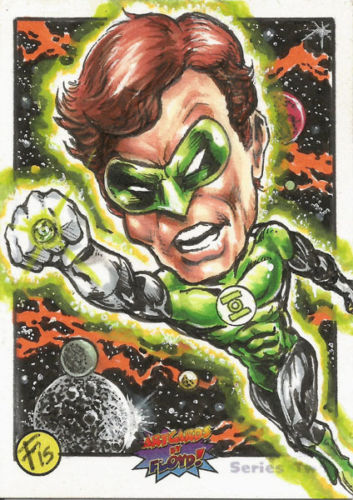 ACEO sketch card GREEN LANTERN! Original artwork by Floyd!