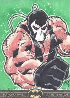 DC Batman the Legend Sketch Card Bane by Michael Kasinger