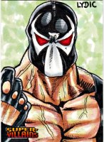 2015 DC Comics Super Villains Sketch Card Bane by Steve Lydic Sketch Card Artist