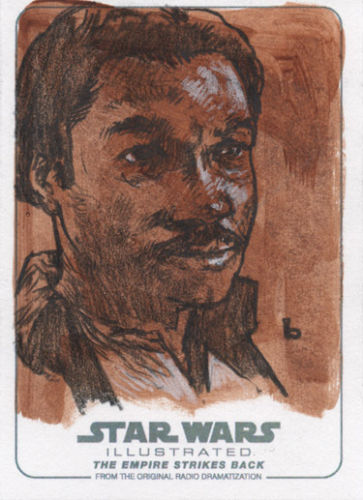 Star Wars Illustrated The Empire Strikes Back Steven Russell Black Sketch card by a wonderful Sketch Card Artist all hand drawn, wonderful art