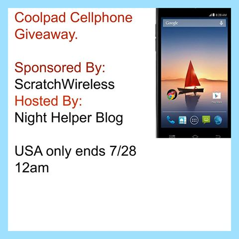 It's a Scratch Wireless Mobile Coolpad Arise Cell Phone Giveaway USA ends 07/28