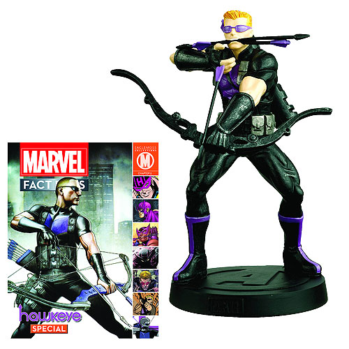 Hawkeye Statue with Collectors Magazine - I have always loved the Hawkeye Character, Pure Skill, no real superpowers, but can kick butt still.