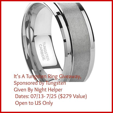 tungsten ring giveaway here at A Medic's World Great gift idea, or prize to win