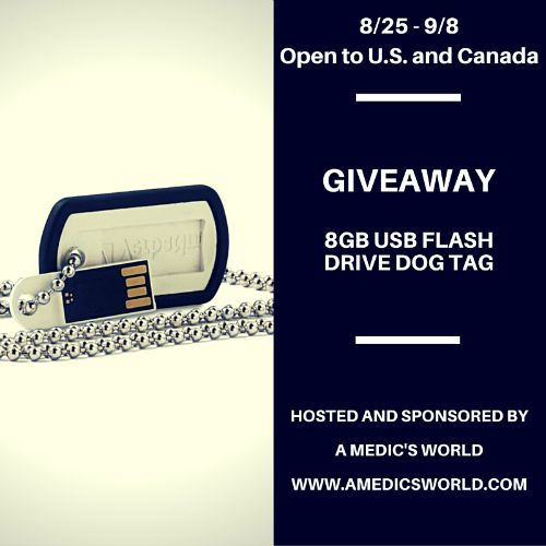 8GB USB Flash Drive Dog Tag Giveaway - Ends 9/8 Just appreciating other veterans, and those servicemen and women currently serving our country and abroad. Thank you. Tom from A Medic's World
