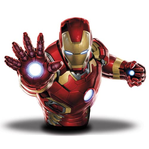 Collectible Banks like this Iron Man Bust, are a geeky way to save money!