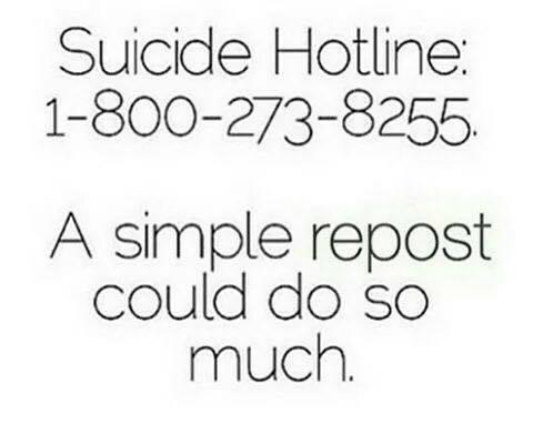 @800273TALK National Suicide Prevention Lifeline #suicideprevention #help
