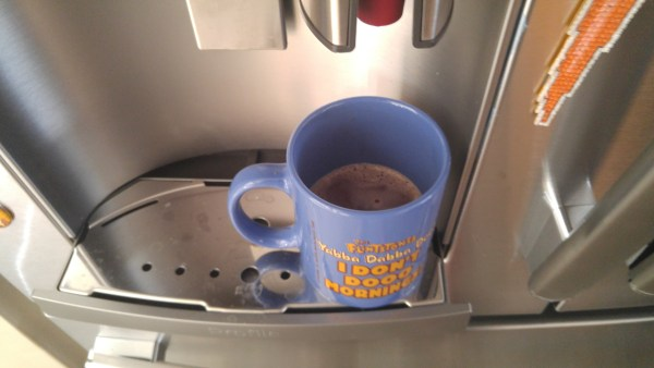 Hot Cocoa during the Holidays direct from our GE Refrigerator from Best Buy