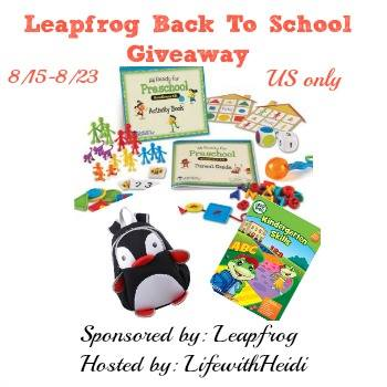 Leapfrog Back To School Giveaway ~ Ends 8/23 Good Luck from Tom's Take On Things