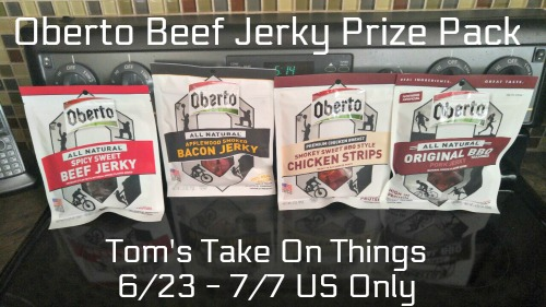 Oberto Beef Jerky Prize Pack Giveaway Ends 7/7