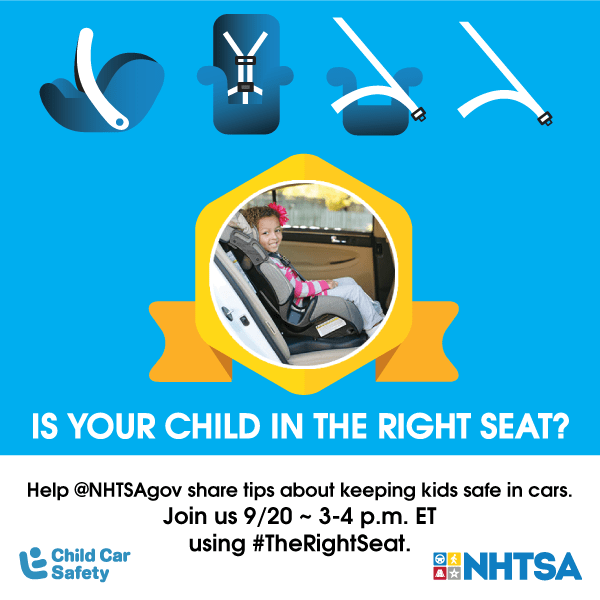 Child Passenger Safety Week September 17-23, 2017