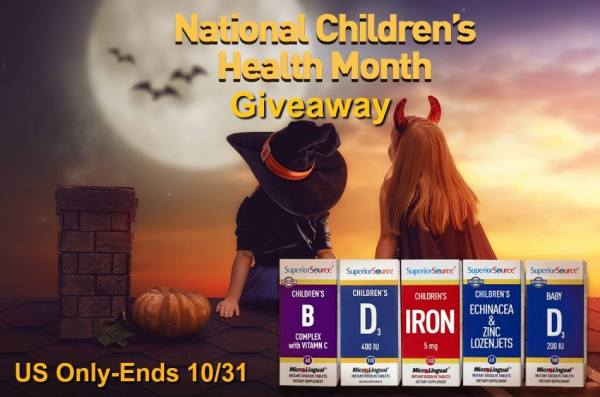National Children's Health Month Vitamin Prize Pack Ends 10/31
