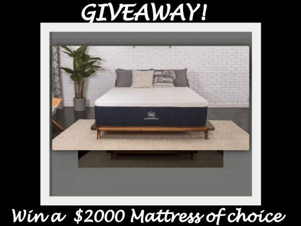 Brooklyn Aurora Mattress Giveaway ~ $2000 Value Ends 12/31
