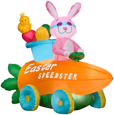 Inflatable Easter Bunny Speedster Car Giveaway Ends 3/15 Good Luck!