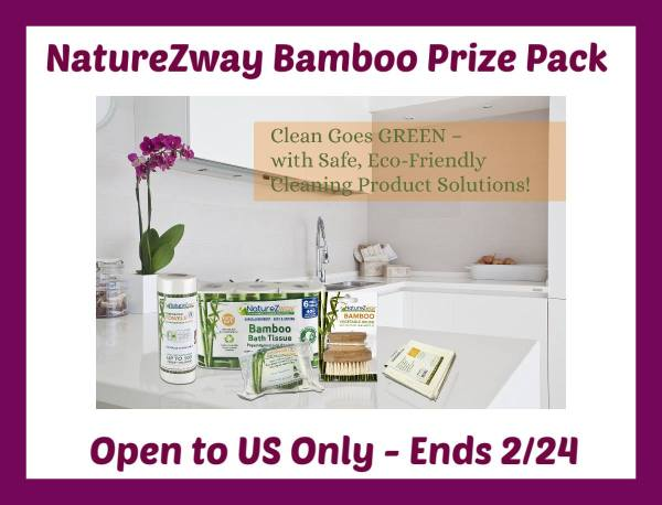 NatureZway Bamboo Prize Pack Giveaway Ends 2/24