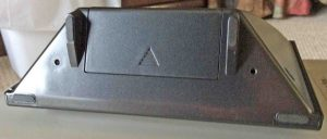 Picture of the bottom View of the AcuRite® Wireless Atomic Clock, showing the battery compartment.