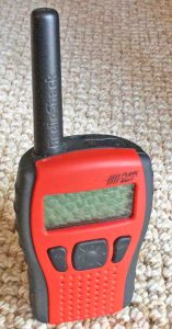 Picture of the Radio Shack Portable Weather Radio 12-522, showing the Front View.