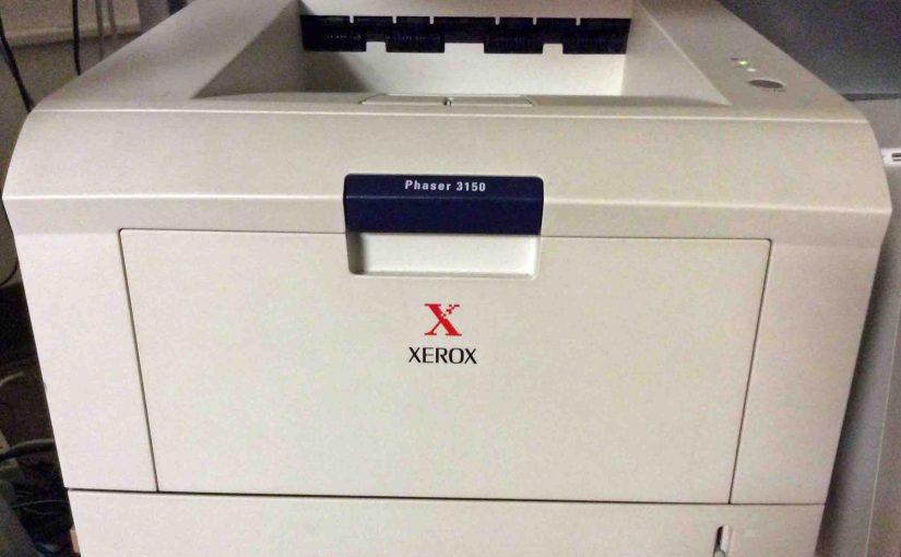 Xerox Phaser 3150 Setup Instructions