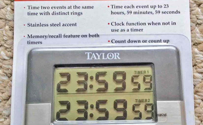 Taylor 5872-9 Timer, Dual Event, Kitchen, Egg, Review