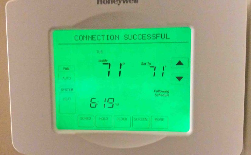 Honeywell Thermostat WiFi Setup RTH8580WF