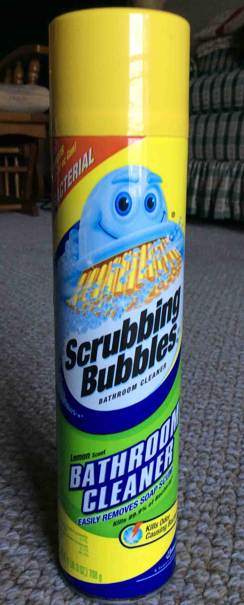 Picture Of Scrubbing Bubbles Antibacterial Bathroom Cleaner By SC Johnson  Company, Showing The Front Of