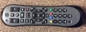 Reset Xfinity Remote XR2: Picture of the front of the Comcast Xfinity XR2 Version U2 remote control.