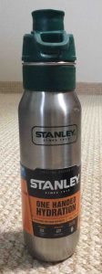 Picture of the 24-ounce size of the Stanley Stainless Steel One Handed Hydration Bottle.