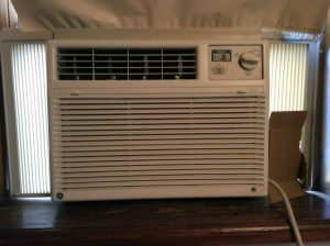 Picture of a Typical Window Air Conditioner, Front View, Cool Side.