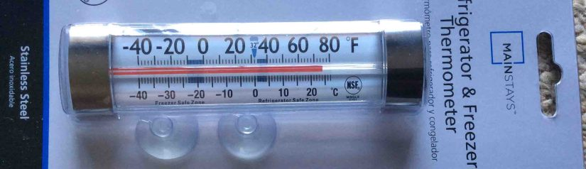 Mainstays G761 Thermometer Review, for Fridge and Freezer