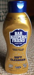 Picture of a 26 ounce bottle of Bar Keepers Friend® (BKF) Soft Cleanser, front view.