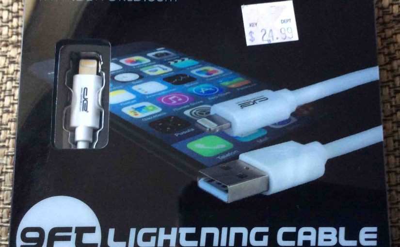 DE Lightning Charging Cable Review, 9 Ft, Sync Too