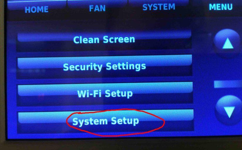 Honeywell RTH9580WF WiFi Setup Instructions