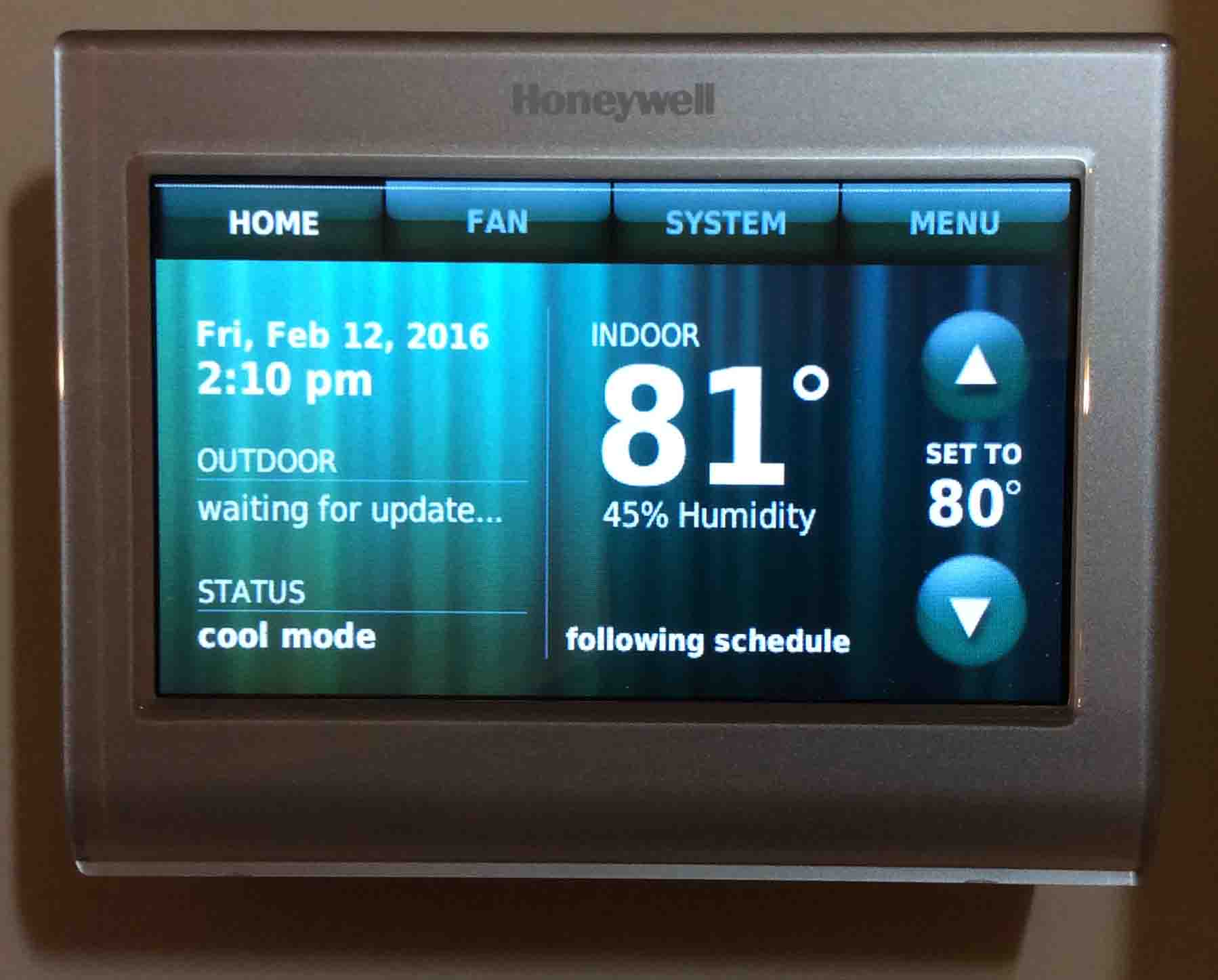 Reconnecting Honeywell Thermostat Rth9580wf To Wifi