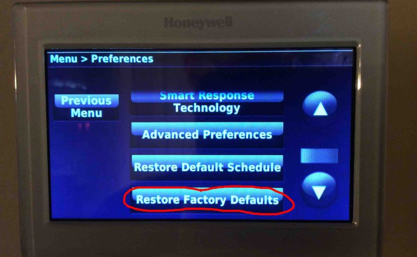 How to Reset Honeywell Touchscreen Thermostat