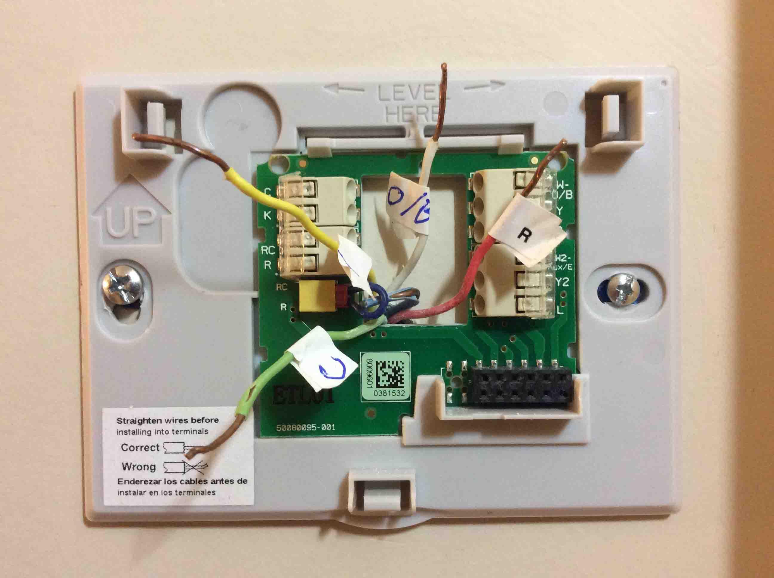 honeywell smart thermostat wiring instructions rth9580wfhoneywell rth9580wf thermostat wiring