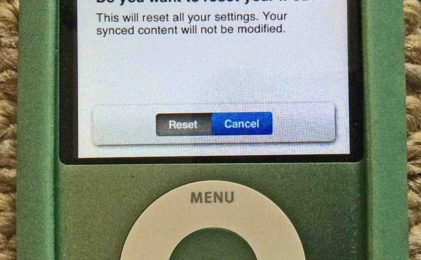 iPod Nano 3 Reset Instructions, Hard Factory Reset